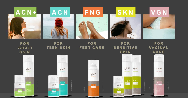 producten van Yun